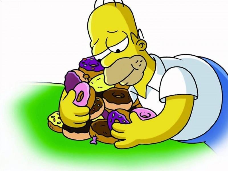 Simpson che abbraccia ciambelle